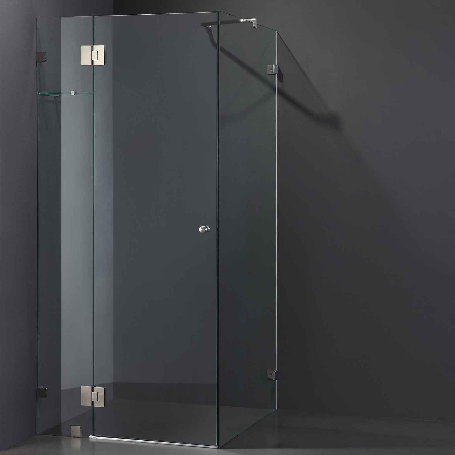 Cube Frameless Shower Screen Otc Tiles Amp Bathroom