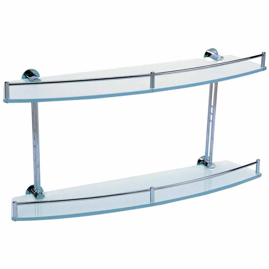 Frosted Glass Shelf Double Otc Tiles Bathroom