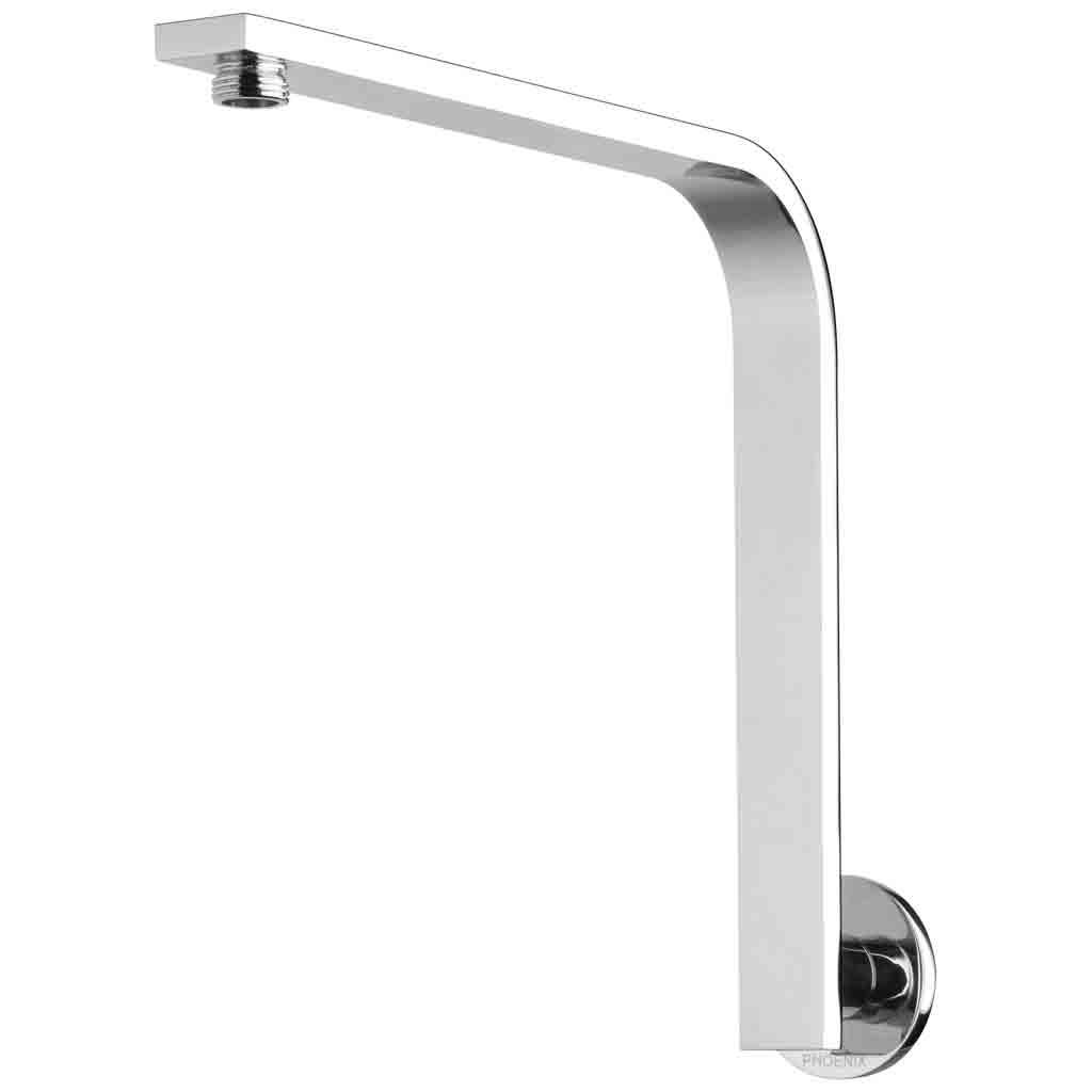 Vivid Slimline Shower Arm 30x10 Rectangle Round Plate