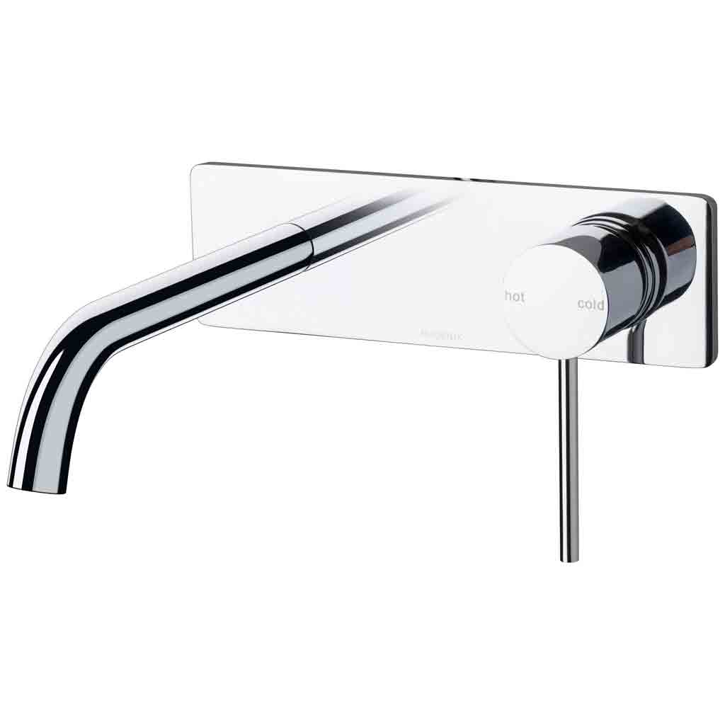 Vivid Slimline Wall Basin Mixer Set 180mm Curved
