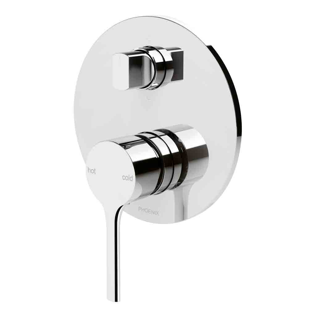 Vivid Slimline Oval Shower / Bath Diverter Mixer