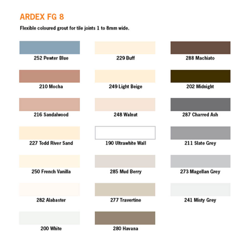 Ardex Fg 8 Otc Tiles Amp Bathroom