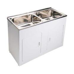 Laundry Tub Dbl Bwl 45+45 1160x500x870