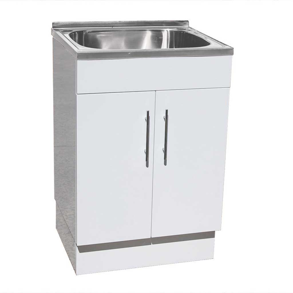 45L Laundry Tub Poly Cabinet 600x500x870 - OTC Tiles & Bathroom