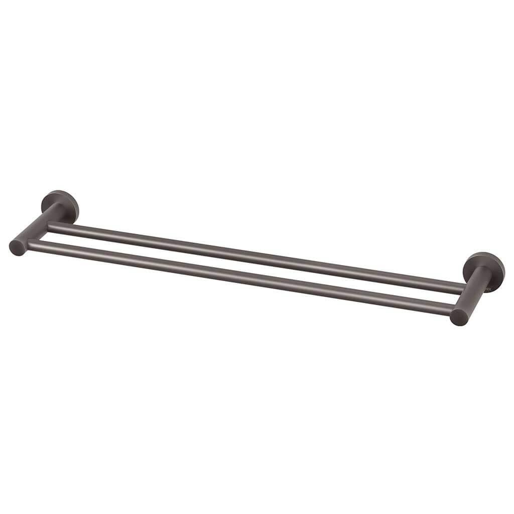 Radii double towel rail rd plate gun metal otc tiles for Double towel rails for bathrooms