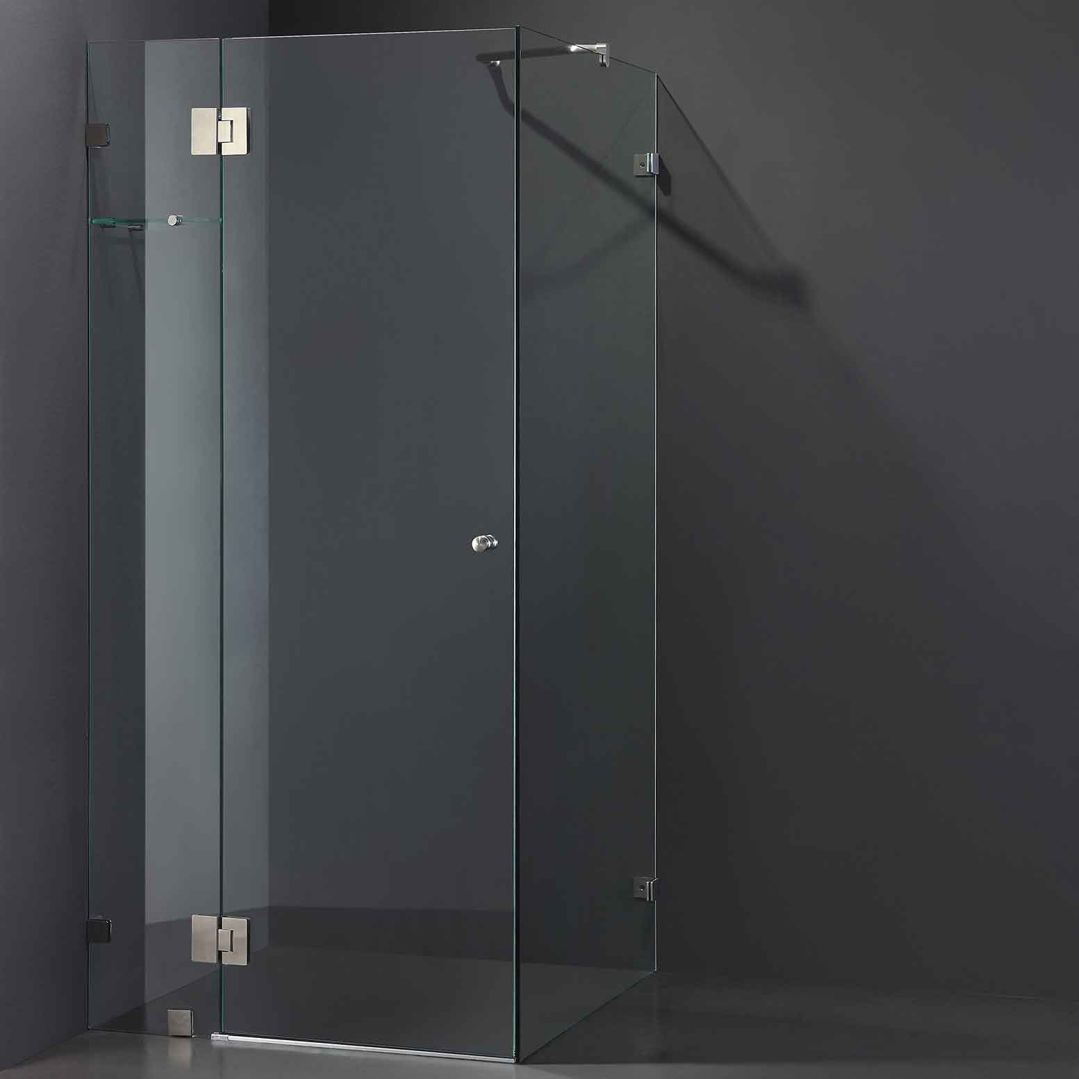 Cube Frameless Shower Screen Otc Tiles Amp Bathroom