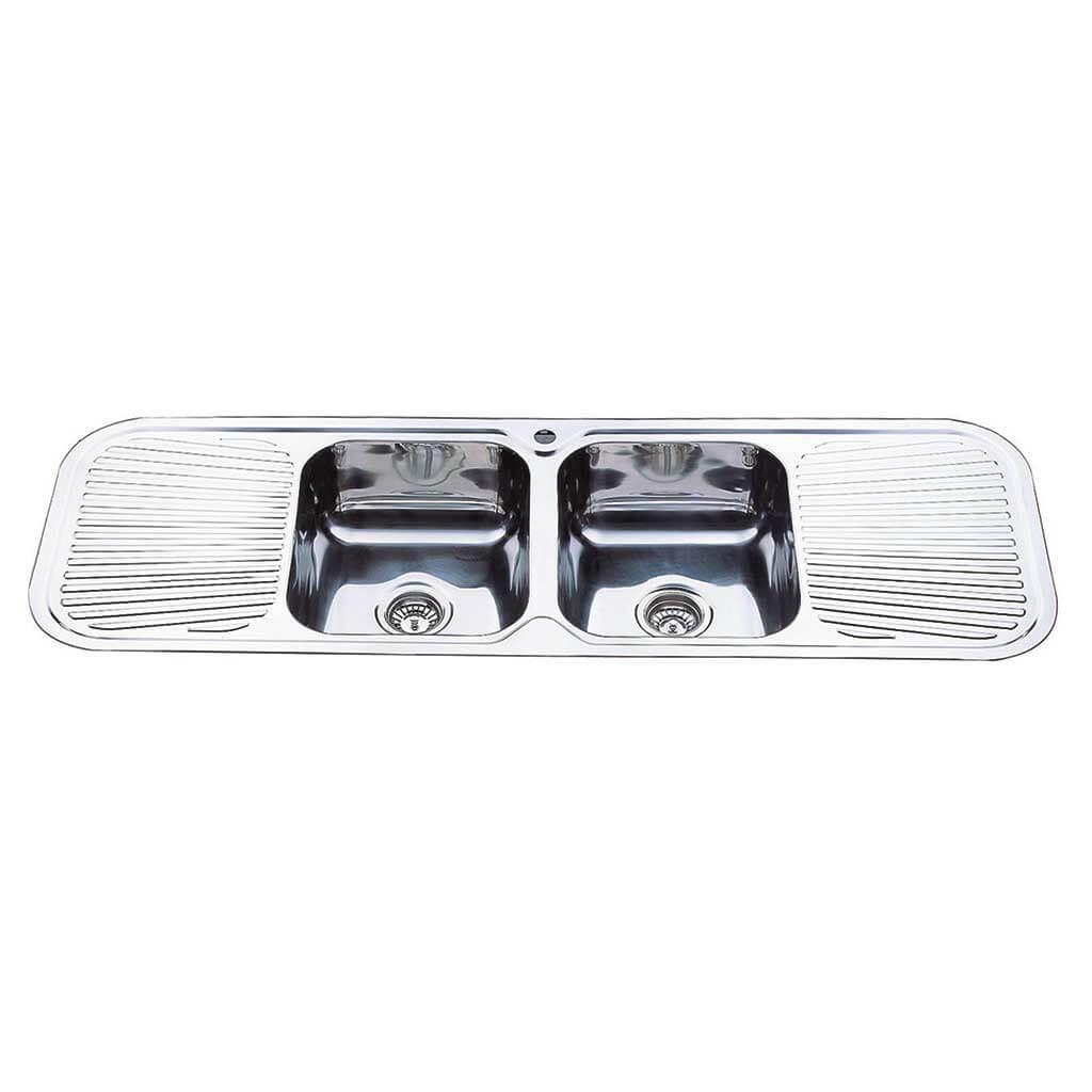 Kitchen Sink Dbl Bowl 1500x500x180