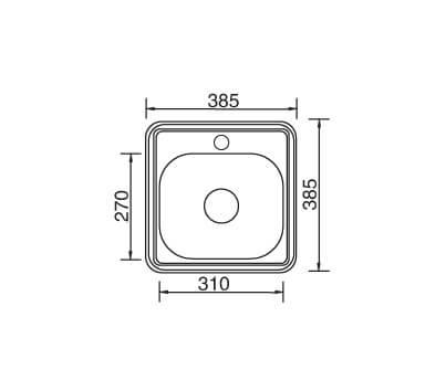 Kithen Sink 385x385x140