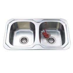 Kitchen Sink Dbl Bowl 780x480x170