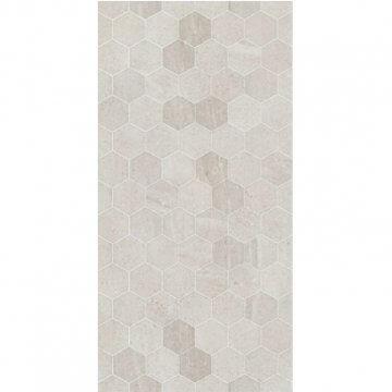 Limestone Light Grey Hex 300x600 Gloss